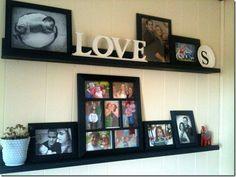 DIY! floating shelf /gallery wall