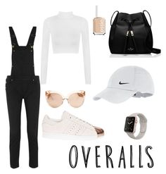 Untitled #12 by maariyah347 on Polyvore featuring polyvore, moda, style, WearAll, Maje, adidas, Kate Spade, NIKE, Linda Farrow, Essie, fashion, clothing, TrickyTrend and overalls