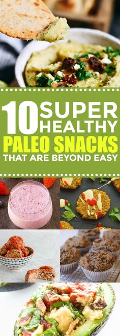 Healthy and easy Paleo snack recipes for weightloss! | Gluten free snacks