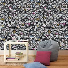 Buy your Graham & Brown Multicoloured Alien Crowd Wallpaper online now at House of Fraser. Shop online or in-store for some of the UK's favourite products. Funky Wallpaper, Paintable Wallpaper, Waves Wallpaper, Hipster Wallpaper, Kids Wallpaper, Pattern Wallpaper, Wallpaper Ideas, Graffiti Wallpaper, Home Interior