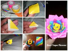 Duct Tape Flower tutorial!!