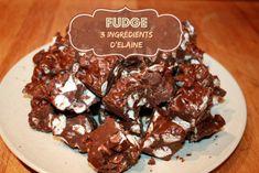 Voici une recette qui a marqué mon enfance. À la maison, quand maman nous disait «J'ai fait du fudge!», c'est de cette recette dont elle parlait. Alors imaginez ma surprise quelques années plus tard de comprendre que normalement, il n'y a pas de guimauves dans du fudge!  C'est une recette très simple, très rapide …