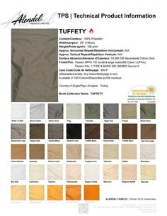 Alendel Fabrics Tuffety TPS | Technical Product Information Sheet