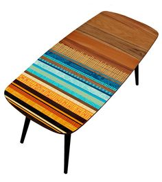 Create GB; Zoe Murphy - Mid Century Table - Color ) Love the half wood/half painted