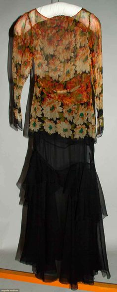 Augusta Auctions, April 17, 2013 - NYC, Lot 359: Blossom Printed Chiffon Dress, 1930s