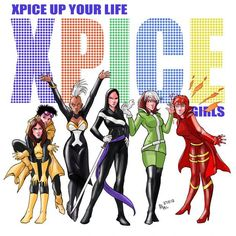 Kitty Pryde, Jubilee, Storm, Psylocke, Rogue, Rachel Grey - This is what i want what i really really want!