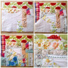 Cornflower Blue: don't waste those scraps! :: easy crazy quilt tutorial