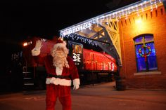 Take a train ride aboard the Santa Express with Santa Claus himself, Mrs. Claus and Santa's friendly elves for a scenic train ride along the Naugatuck River.