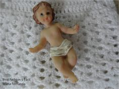 Fashion y Fácil DIY: Cómo hacer un faldón o ropón tejido para el Niño Dios. Vestir al Niño Jesús con crochet o ganchillo paso a paso. Crocheted dress for Baby Jesus step by step
