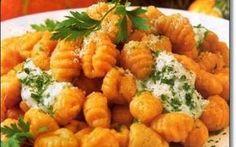 A thousand easy recipes: Pumpkin gnocchi, super simple recipe - Recetas del mundo - Recetas Veggie Recipes, Pasta Recipes, Real Food Recipes, Vegetarian Recipes, Cooking Recipes, Healthy Recipes, Healthy Cooking, Healthy Eating, Comida Diy