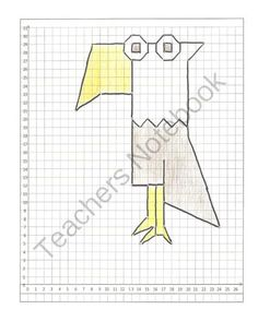 (3) Coordinate Graphing Pictures: Eagle, Duck, Owl  cartoons.   All quadrant one from K and C's  Shop on TeachersNotebook.com -  (7 pages)  - These graphing cartoon pictures are all in the first quadrant.  These cartoons would be ideal for students that are just beginning with graphing.