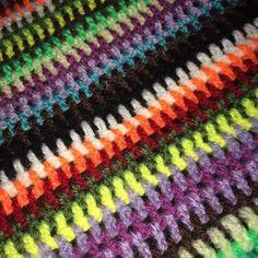 #crochet #crocheted #crocheting #crochetgeek #crochetlove ##crochetblanket #stripes #yarn #wool #hook #handmade by kerry2001