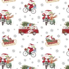 Out for Delivery Jumbo Gift Wrap Roll - Set of Three by Jillson & Roberts Emoji Christmas, Christmas Paper, Christmas Crafts, Santa Christmas, Christmas 2016, Christmas Ideas, Christmas Decorations, Xmas Wallpaper, Cute Christmas Wallpaper