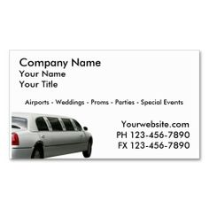 Taxi Cab Business Cards Limo Card Design Image