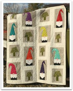 Come have some fun in the a Tale of Two Gnomes Quilt Class with Janelle! We are in love with this unique and enchanting quilt!