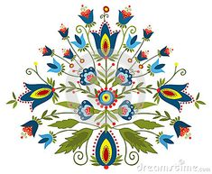 Polish folk - traditional design with floral