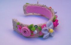 Floral headband for Blythe by RainbowDaisies on Etsy, $9.90