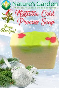 Mistletoe Cold Process Soap Recipe is a free recipe Natures Garden Soap Making Supplies. This free tutorial shows how to make homemade cp soap. Christmas Soap, Diy Christmas Gifts, Soap Colorants, Green Soap, Whipped Soap, Soap Making Supplies, Cold Process Soap, Soap Recipes, Home Made Soap