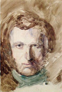John Ruskin. 'Self Portrait'. Watercolour and pencil. 1847.