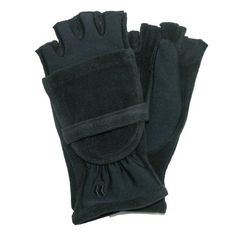 Isotoner Stretch Fleece With Microluxe Lined Gloves ~ Black ~ NWT