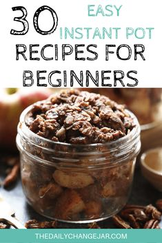 30 Easy Instant Pot Recipes for Beginners - The Daily Change Jar - Food: Veggie tables Best Instant Pot Recipe, Instant Pot Dinner Recipes, Recipes For Beginners, Great Recipes, Easy Cooking, Cooking Recipes, My Favorite Food, Favorite Recipes, Change Jar