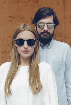 "Marie and Stefan wear MYKITA + Maison Martin Margiela ""MMDUAL002"" and ""MMESSE006"""