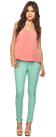 What to wear with mint green jeans - Polyvore | Clothing ...
