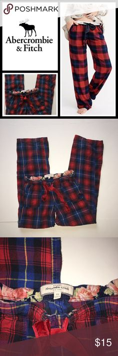 """Abercrombie & Fitch Plaid Pajama Pants Pre loved but in very good condition - very minor fading from being washed but other than that no flaws at all! Size is XS inseam about 30"""" Abercrombie & Fitch Intimates & Sleepwear Pajamas"""