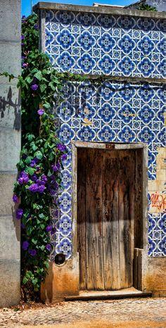 rustic door + azulejos