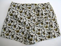 Handmade Cowboy Boxer Shorts  Mens cotton by SewnWithPassion