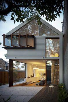 ออกแบบบ้านทรงสูง หน้าต่างๆเยอะๆ
