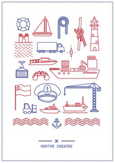 Nautical Nutshell by Stephanie Cahyadi, via Behance