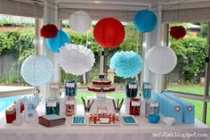 really cute 4th of july party