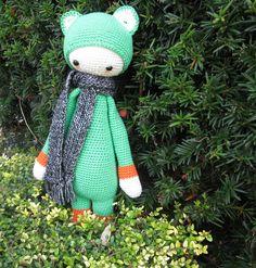 FIBI the fox made by Francine / crochet pattern by lalylala