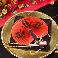 Chinese Place Card Wedding Party Supplies