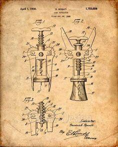 Imprimir patentes de Cork tornillo patente lámina patente