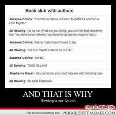 Book Club for Authors (JK Rowling, Suzanne Collins, Stephine Meyer)