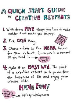 A Quick Start Guide to Creative Retreats