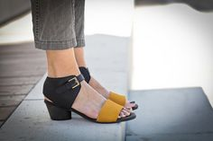 10% Sale, Chloe, High Heel Sandals, Black Leather Sandals, Yellow Summer Shoes, Black Heels Sandals, Yellow Strap Sandals