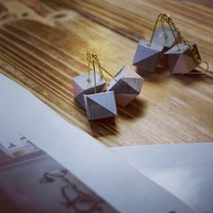 Concrete jewelry- concrete earrings- geometric jewelry
