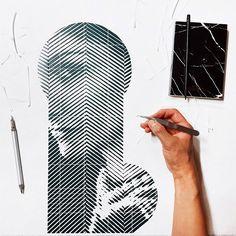 Retratos hiper-realistas feitos de papel e estilete pelo coreano Yoo Hyun
