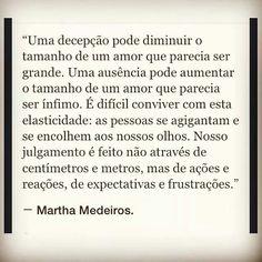 """""""Uma ausência pode aumentar ou reduzir o tamanho de um amor."""""""