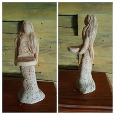 Clay women tea light holder