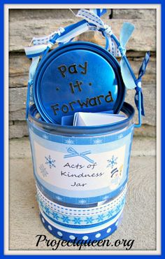 Pay it forward bucket~ Perfect encouraging the children to come up with their own ideas throughout the year.