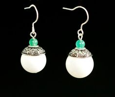 Traditional Chinese earrings hand made with by ArielTianJewelry, $20.00
