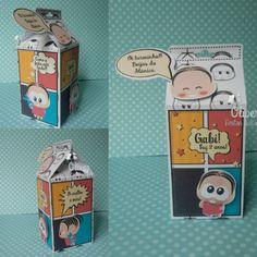 Caixa Milk Mônica by Oliver Festas Infantis