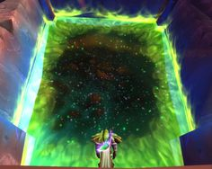 The dark portal that brought you to the world of the first addon: the Burning Crusade.