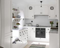 i wouldn't mind a small kitchen if it looked like this.