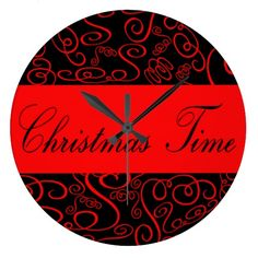 Christmas Time flakes decoration Clock