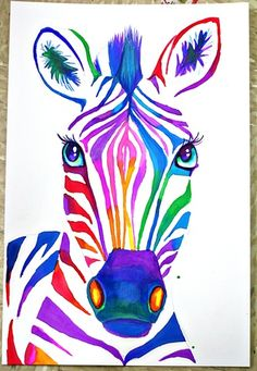 love the colors of this zebra